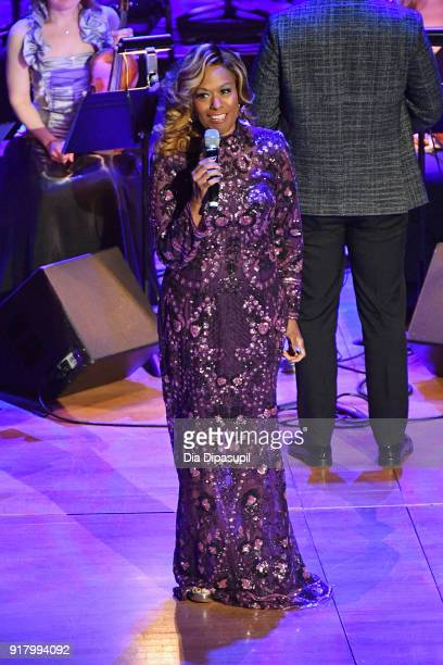 Jennifer Holliday performs onstage the Winter Gala at Lincoln Center at Alice Tully Hall on February 13 2018 in New York City