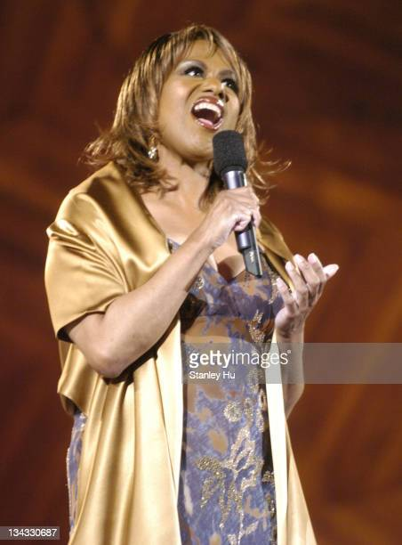Jennifer Holliday sings during a rehearsal performance for Boston's Fourth of July celebration at the Hatch Shell in Boston Saturday July 3 2004