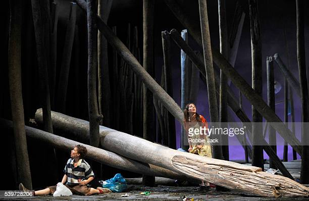 Jennifer Holloway and Adriana Kucerova perform in the production of Engelbert Humperdinck's opera 'Hansel und Gretel' directed by Laurent Pelly and...