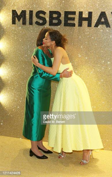 Jennifer Hosten and Gugu MbathaRaw attend the World Premiere of Misbehaviour at The Ham Yard Hotel on March 09 2020 in London England