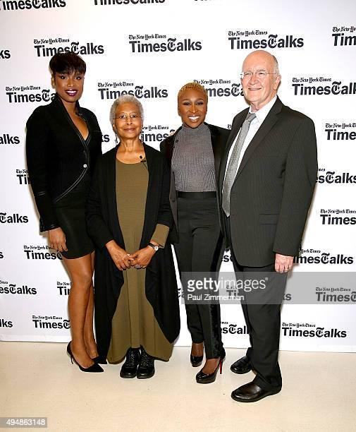 Jennifer Hudson Alice Walker Cynthia Erivo and John Doyle attend 'The Color Purple' TimesTalks Jennifer Hudson Cynthia Erivo Alice Walker John Doyle...