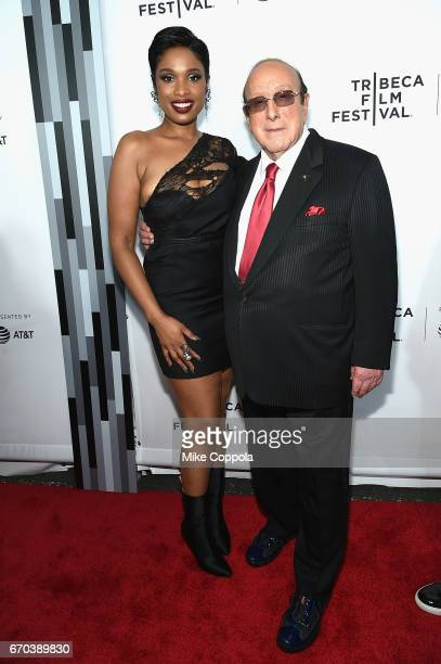 Jennifer Hudson and Clive Davis attend the 'Clive Davis The Soundtrack Of Our Lives' Premiere at Radio City Music Hall on April 19 2017 in New York...