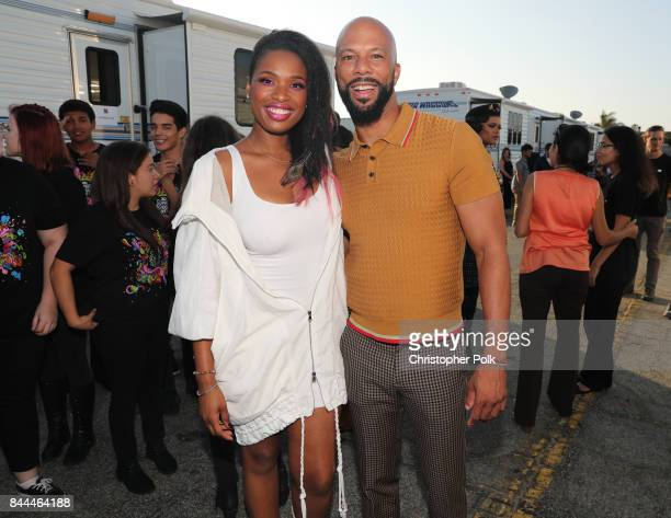 Jennifer Hudson and Common pose during the XQ Super School Live presented by EIF at Barker Hangar on September 8 2017 in Santa California