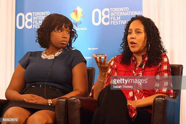 Jennifer Hudson and Director Gina PrinceBythewood attend the 2008 Toronto Film Festival The Secret Life of Bees Press Conference on September 6 2008...