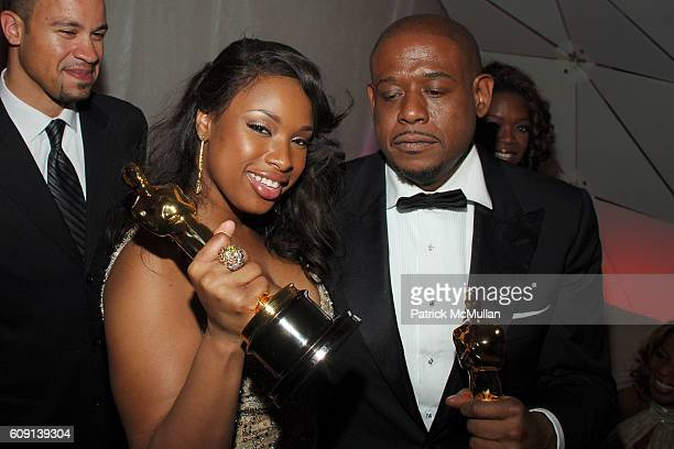 Jennifer Hudson and Forest Whitaker attend VANITY FAIR Oscar Party at Morton's on February 25 2007 in Los Angeles CA