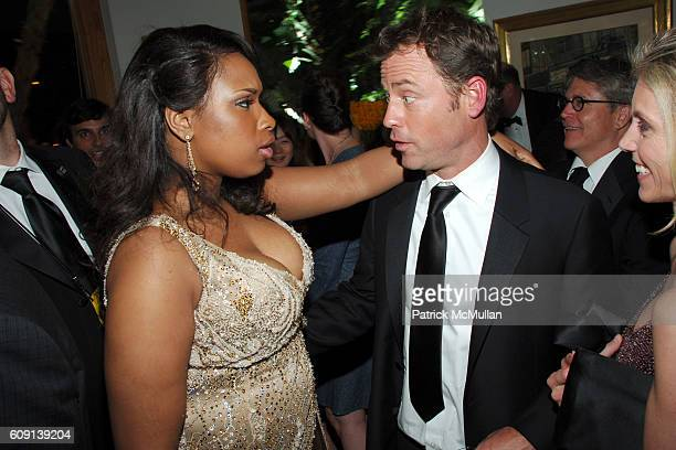 Jennifer Hudson and Greg Kinnear attend ; VANITY FAIR Oscar Party at Morton's on February 25, 2007 in Los Angeles, CA.