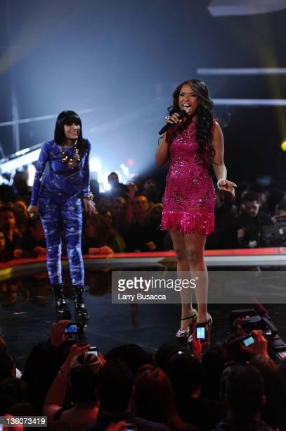 Jennifer Hudson and Jessie J performs onstage during VH1 Divas Celebrates Soul at Hammerstein Ballroom on December 18 2011 in New York City