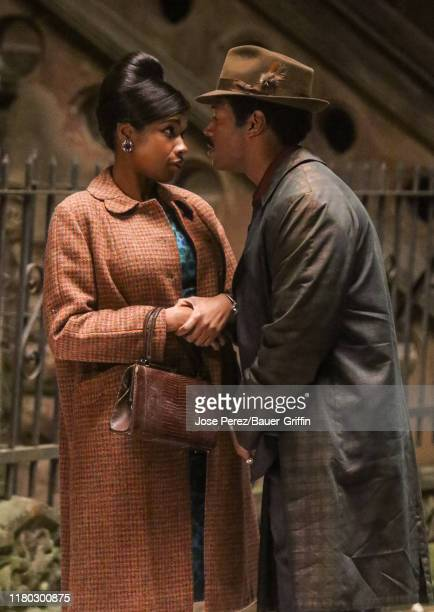 Jennifer Hudson and Marlon Wayans are seen on November 05 2019 in New York City