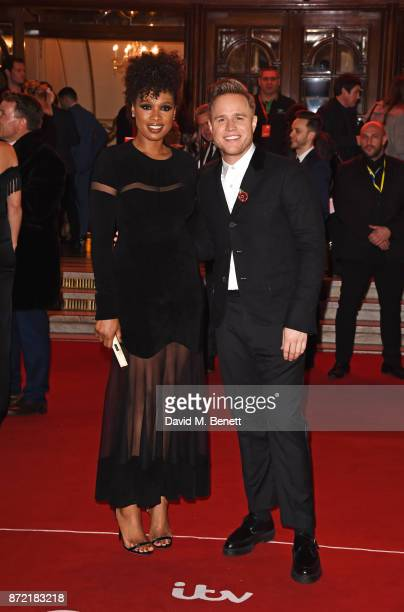 Jennifer Hudson and Olly Murs attend the ITV Gala held at the London Palladium on November 9 2017 in London England