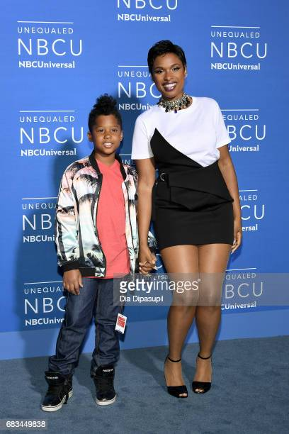 Jennifer Hudson and son David Otunga Jr attend the 2017 NBCUniversal Upfront at Radio City Music Hall on May 15 2017 in New York City
