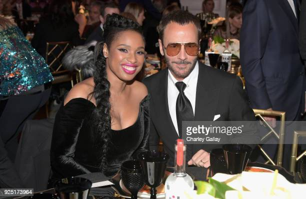 Jennifer Hudson and Tom Ford attend WCRF's 'An Unforgettable Evening' Presented by Saks Fifth Avenue on February 27 2018 in Beverly Hills California