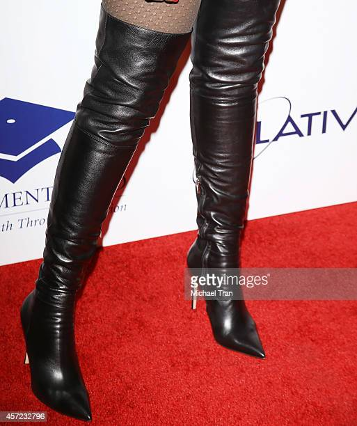 Jennifer Hudson arrives at the 20th Annual Fulfillment Fund Stars Benefit Gala held at The Beverly Hilton Hotel on October 14 2014 in Beverly Hills...