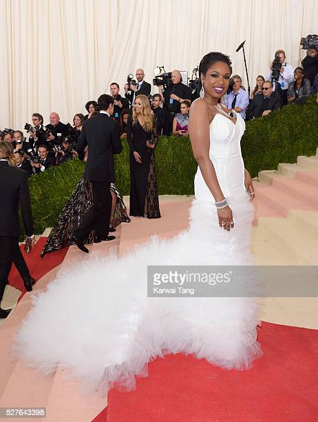 Jennifer Hudson arrives for the 'Manus x Machina Fashion In An Age Of Technology' Costume Institute Gala at Metropolitan Museum of Art on May 2 2016...