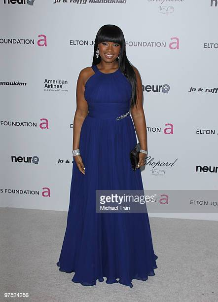 Jennifer Hudson arrives to the 18th Annual Elton John AIDS Foundation Academy Awards Viewing Party held at Pacific Design Center on March 7, 2010 in...