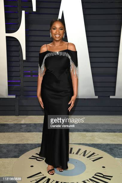 Jennifer Hudson attends 2019 Vanity Fair Oscar Party Hosted By Radhika Jones at Wallis Annenberg Center for the Performing Arts on February 24 2019...