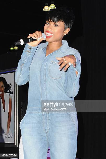 Jennifer Hudson attends Fan Fest BET and Centric Pavilion Day 1 during the 2014 BET Experience at LA LIVE on June 28 2014 in Los Angeles California