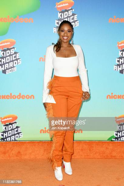 Jennifer Hudson attends Nickelodeon's 2019 Kids' Choice Awards at Galen Center on March 23 2019 in Los Angeles California