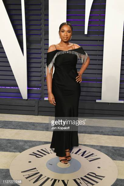Jennifer Hudson attends the 2019 Vanity Fair Oscar Party hosted by Radhika Jones at Wallis Annenberg Center for the Performing Arts on February 24...