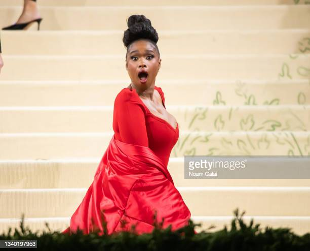Jennifer Hudson attends the 2021 Met Gala celebrating 'In America: A Lexicon of Fashion' at The Metropolitan Museum of Art on September 13, 2021 in...