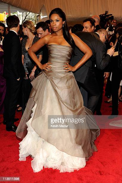 "Jennifer Hudson attends the ""Alexander McQueen: Savage Beauty"" Costume Institute Gala at The Metropolitan Museum of Art on May 2, 2011 in New York..."