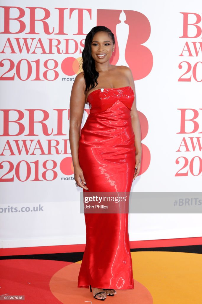 Jennifer Hudson attends The BRIT Awards 2018 held at The O2 Arena on February 21, 2018 in London, England.