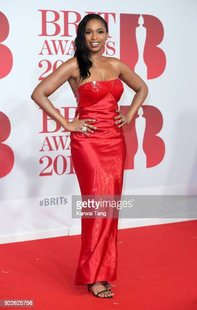 AWARDS 2018 *** Jennifer Hudson attends The BRIT Awards 2018 held at The O2 Arena on February 21 2018 in London England