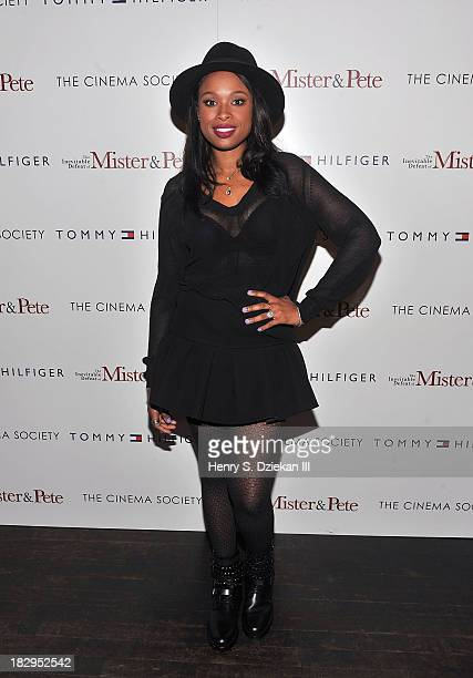 Jennifer Hudson attends The Cinema Society Tommy Hilfiger screening of 'The Inevitable Defeat of Mister Pete' at Tribeca Grand Hotel on October 2...