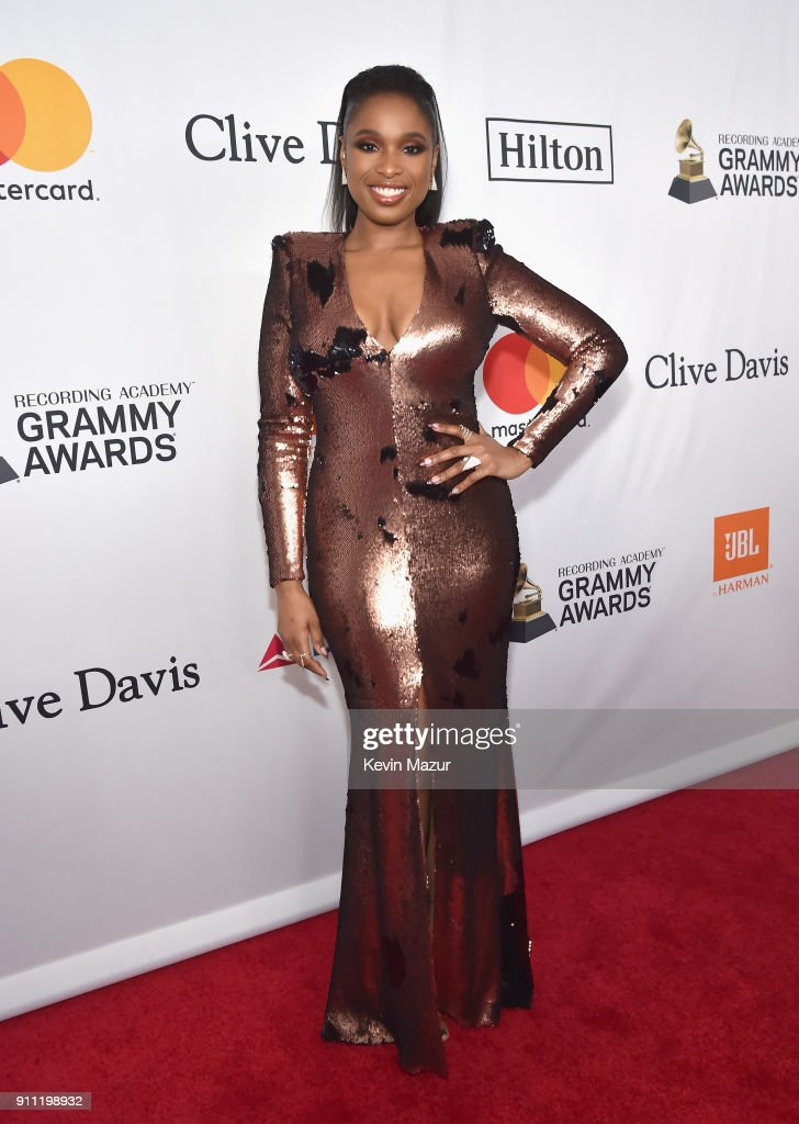 Jennifer Hudson attends the Clive Davis and Recording Academy Pre-GRAMMY Gala and GRAMMY Salute to Industry Icons Honoring Jay-Z on January 27, 2018 in New York City.