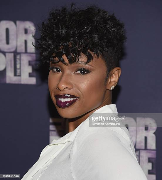Jennifer Hudson attends 'The Color Purple' Broadway Cast Photo Call at Intercontinental Hotel on November 20 2015 in New York City