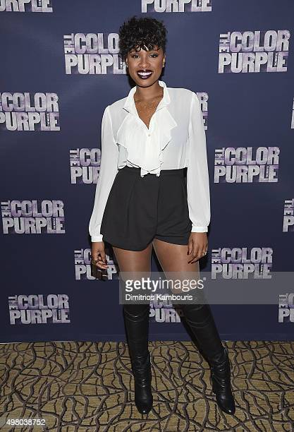 Jennifer Hudson attends The Color Purple Broadway Cast Photo Call at Intercontinental Hotel on November 20 2015 in New York City