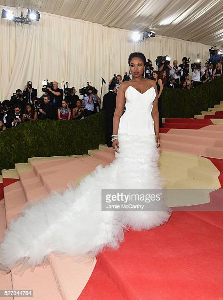 Jennifer Hudson attends the 'Manus x Machina Fashion In An Age Of Technology' Costume Institute Gala at Metropolitan Museum of Art on May 2 2016 in...