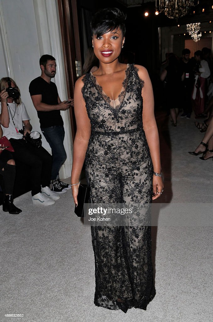 Jennifer Hudson attends the Marchesa Spring 2016 fashion show during New York Fashion Week at St. Regis Hotel on September 16, 2015 in New York City.