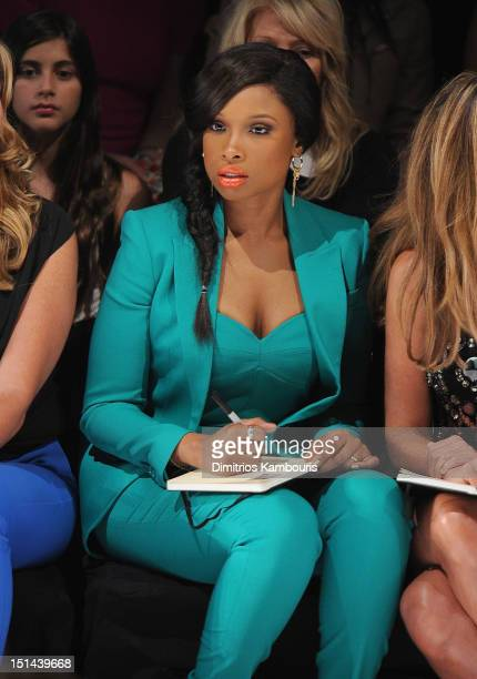 Jennifer Hudson attends the Project Runway show during Spring 2013 Mercedes-Benz Fashion Week at The Theatre Lincoln Center on September 7, 2012 in...