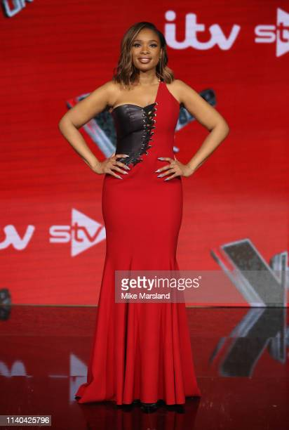 Jennifer Hudson attends The Voice UK Final 2019 photocall at Elstree Studios on April 04 2019 in Borehamwood England