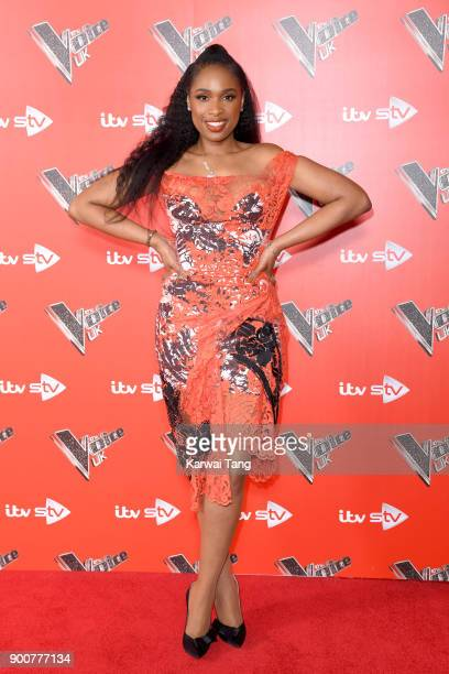 Jennifer Hudson attends The Voice UK Launch photocall at Ham Yard Hotel on January 3 2018 in London England