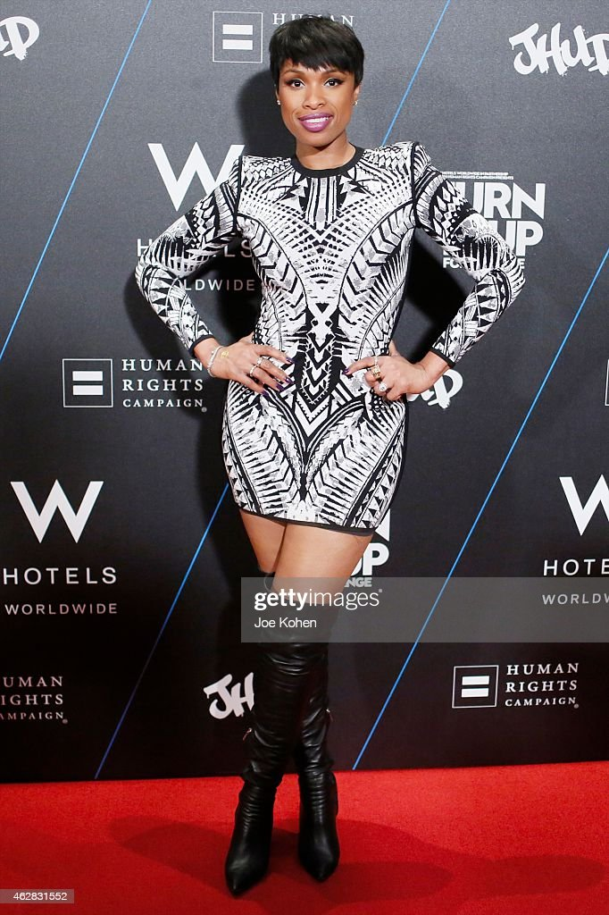 Jennifer Hudson attends Turn It Up For Change ball to benefit HRC at W Hollywood on February 5, 2015 in Hollywood, California.