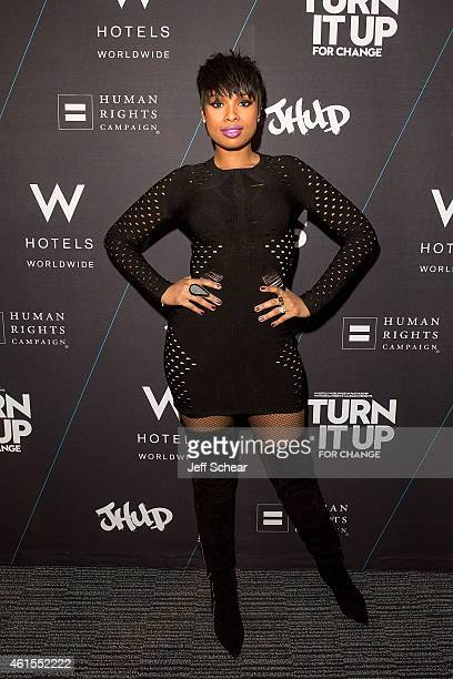 Jennifer Hudson attends W Hotels and Jennifer Hudson Turn It Up For Change to Benefit HRC at W ChicagoLakeshore on January 15 2015 in Chicago Illinois