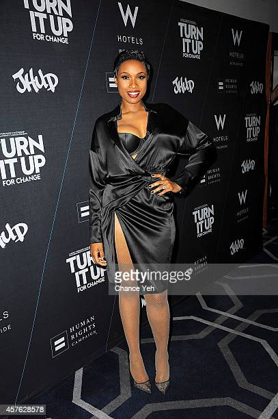 Jennifer Hudson attends W Hotels TURN IT UP FOR CHANGE Ball at W Union Square on October 21 2014 in New York City