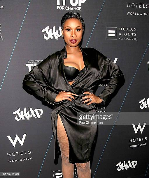 Jennifer Hudson attends W Hotels 'Turn It Up For Change' Launch to benefit The Human Rights Campaign at W Union Square on October 21 2014 in New York...