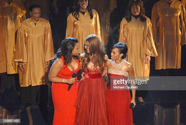 Jennifer Hudson Beyonce Knowles and Anika Noni Rose perform Best Original Song nominee Patience from Dreamgirls