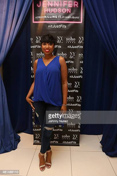 Jennifer Hudson celebrates her campaign launch for New York Company's Soho Jeans Collection at the New York Company Flagship Store on July 21 2015 in...
