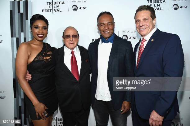Jennifer Hudson Clive Davis Ray Parker Jr and Governor of New York Andrew Cuomo attend the 'Clive Davis The Soundtrack Of Our Lives' Premiere at...