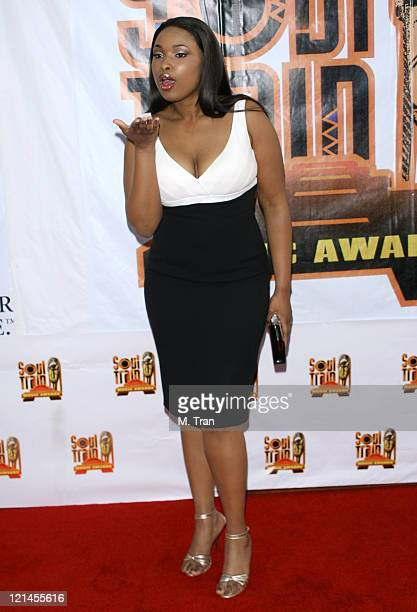 Jennifer Hudson during 21st Annual Soul Train Music Awards Arrivals at Pasadena Civic Auditorium in Pasadena California United States