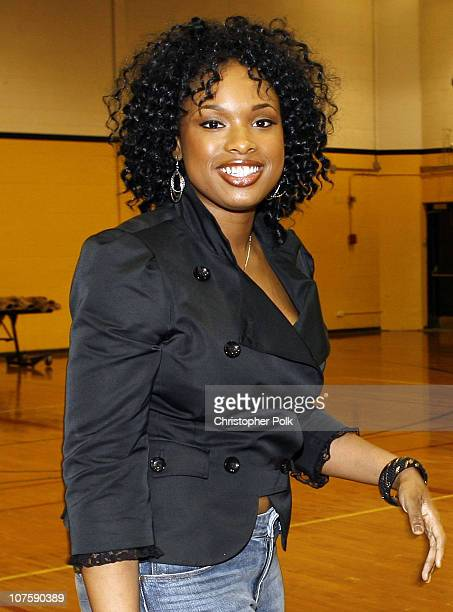 Jennifer Hudson during TMobile Sidekick and Dwyane Wade Restore Richards High School Gym at Richards High School in Oak Lawn Illinois