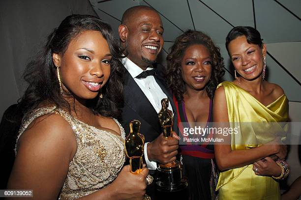 Jennifer Hudson Forest Whitaker Oprah Winfrey and Keisha Whitaker attend VANITY FAIR Oscar Party at Morton's on February 25 2007 in Los Angeles CA
