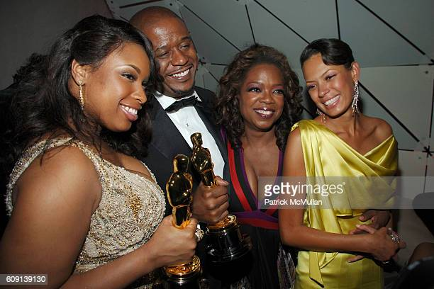Jennifer Hudson, Forest Whitaker, Oprah Winfrey and Keisha Whitaker attend ; VANITY FAIR Oscar Party at Morton's on February 25, 2007 in Los Angeles,...