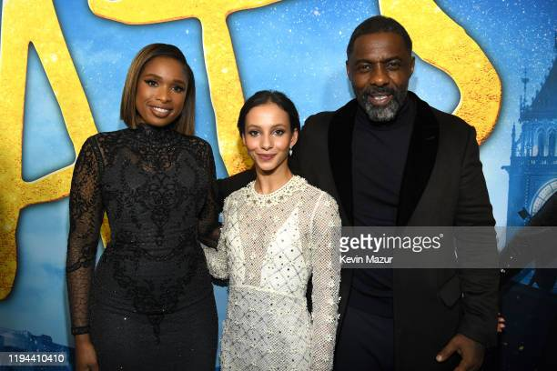 Jennifer Hudson, Francesca Hayward, and Idris Elba attend The World Premiere of Cats, presented by Universal Pictures on December 16, 2019 in New...