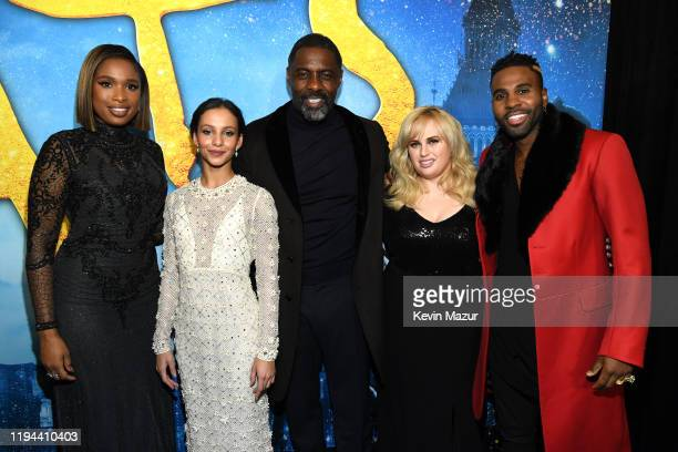 Jennifer Hudson, Francesca Hayward, Idris Elba, Rebel Wilson, and Jason Derulo attend The World Premiere of Cats, presented by Universal Pictures on...