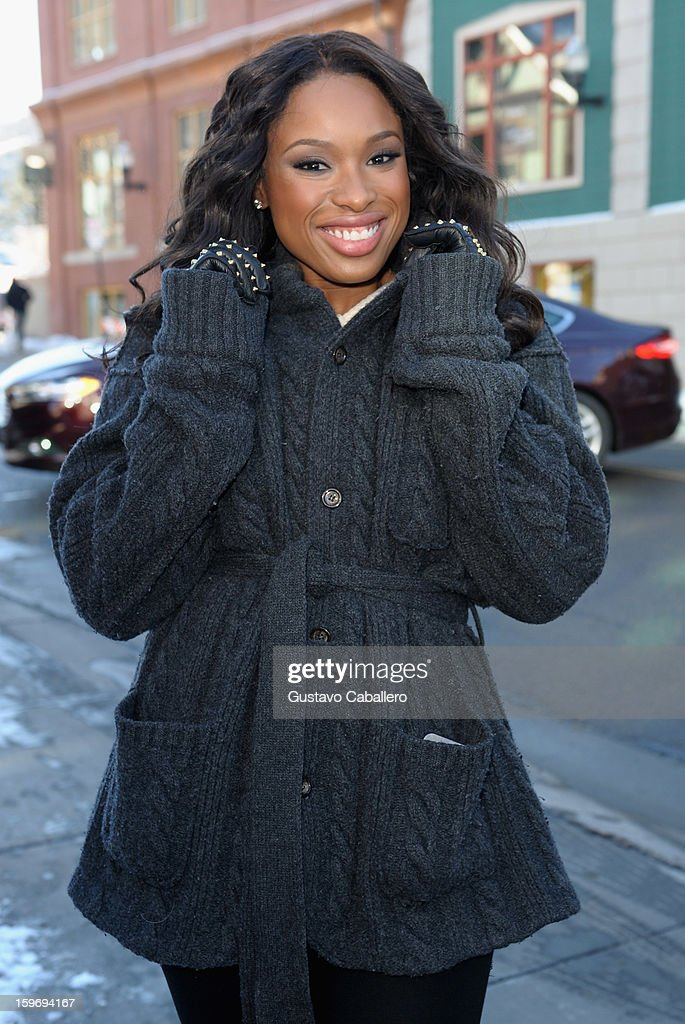 Jennifer Hudson makes her way into the Nikki Beach pop-up lounge and restaurant on January 18, 2013 in Park City, Utah.