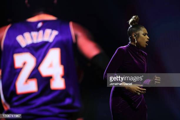 Jennifer Hudson performs a tribute to Kobe Bryant before the 69th NBA AllStar Game at the United Center on February 16 2020 in Chicago Illinois NOTE...
